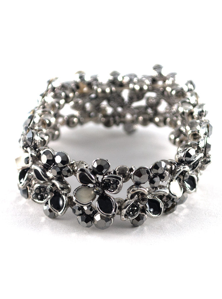 Grisaille Stretch Flower Bracelet