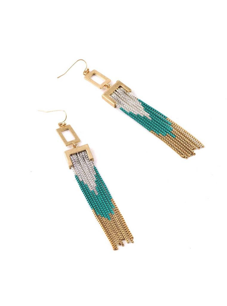 Tricolor Tassel Earrings