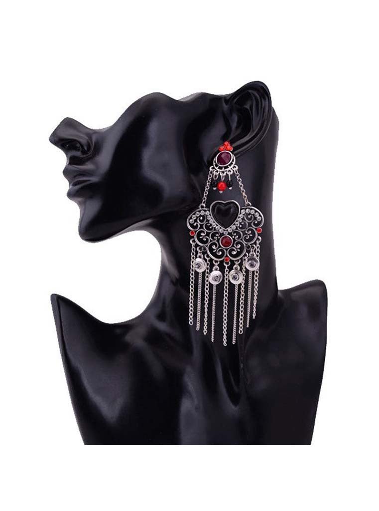 Elegant Luxury Hollow Tassel Beads Earrings