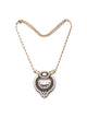 Beige rhinestone multi pendant necklace