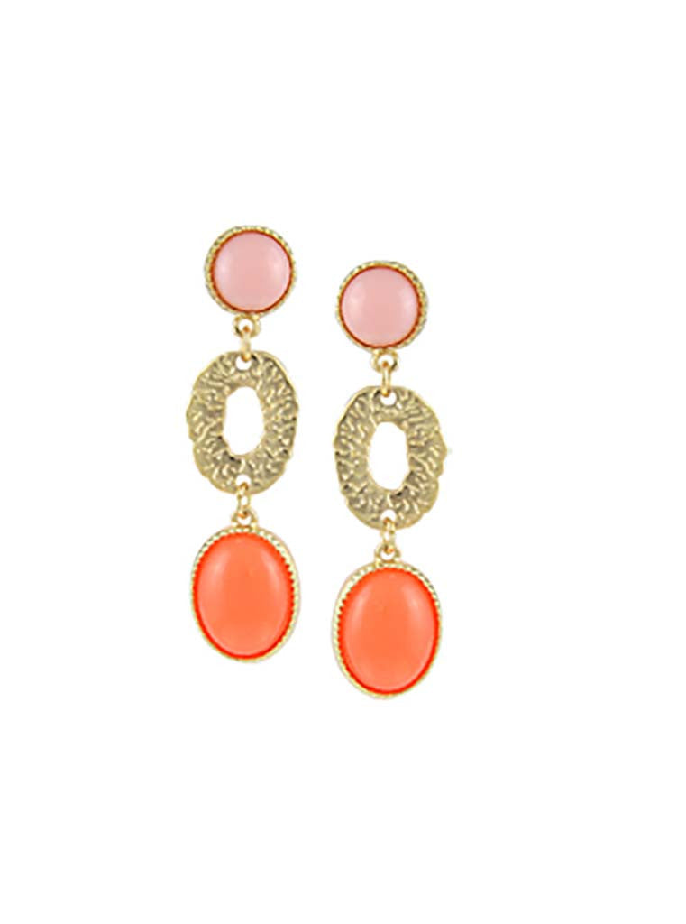 Rhinestone Accented Gold-Tone Linear Earrings