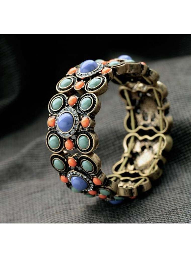 Encased Gems Stretch Bracelet