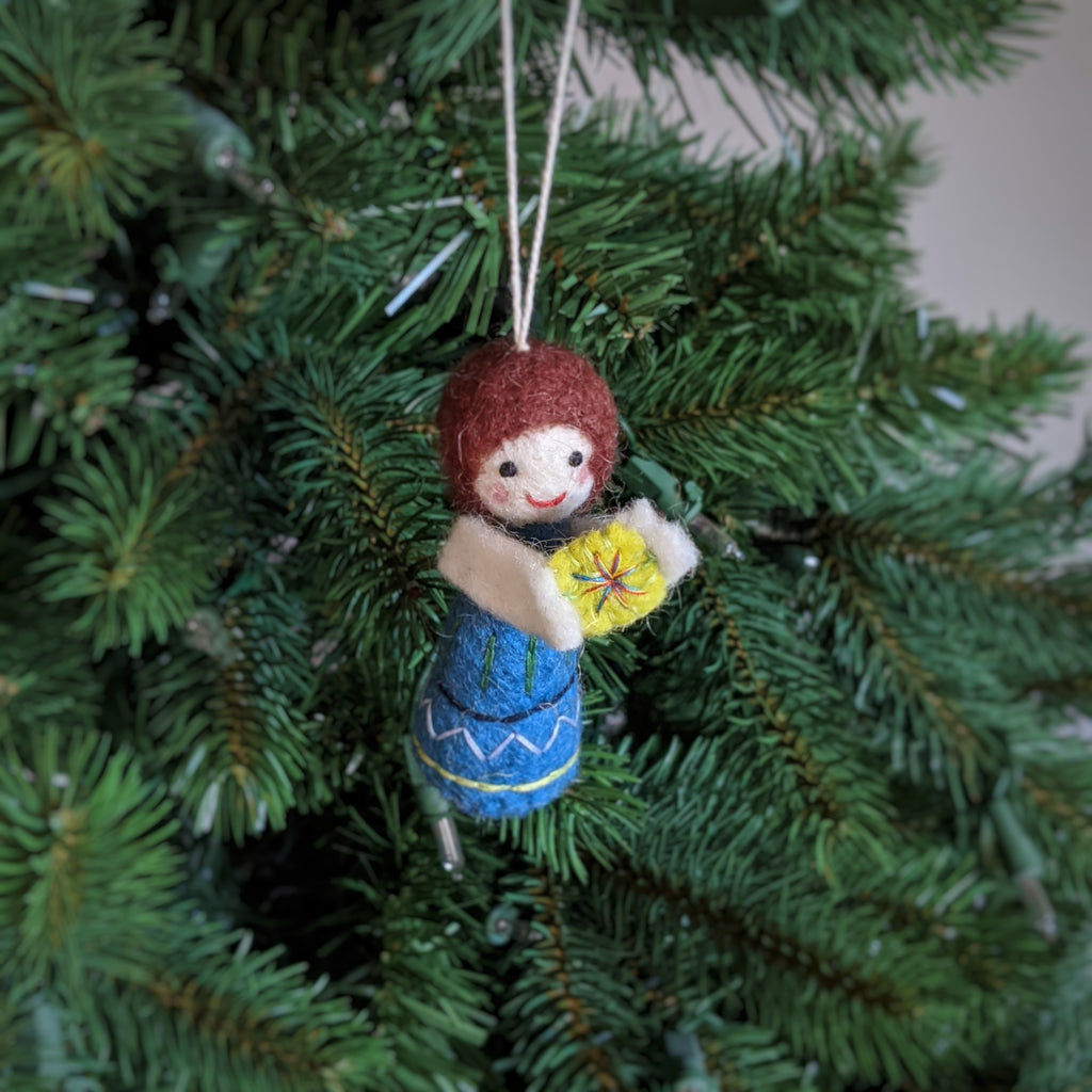 felted angel ornament
