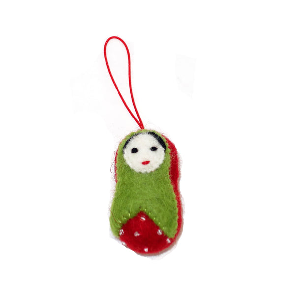 babushka baby ornament