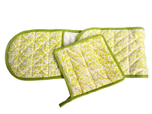 cotton oven mitt duo (W)