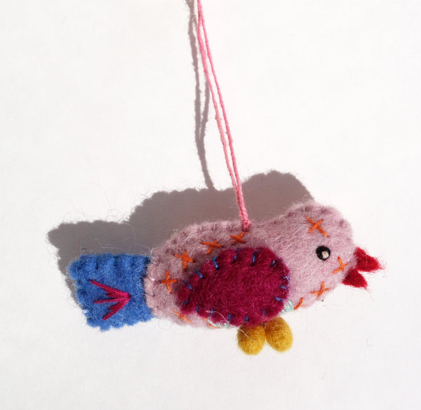 tiny bird ornament