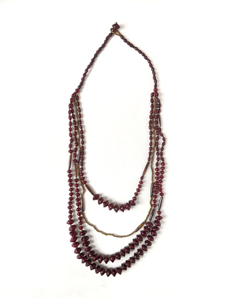 serengeti necklace, berry