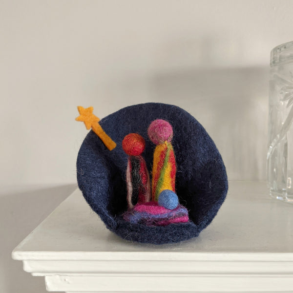 little felt nativity
