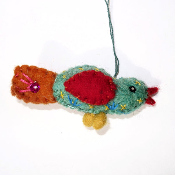 tiny bird ornament (W)