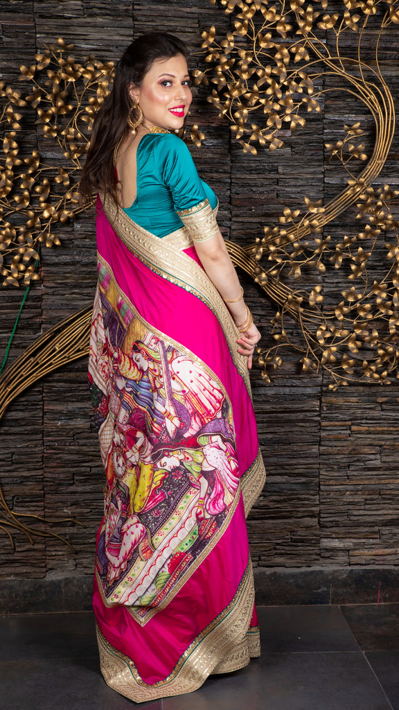 The Royal Grooming – Magenta Saree