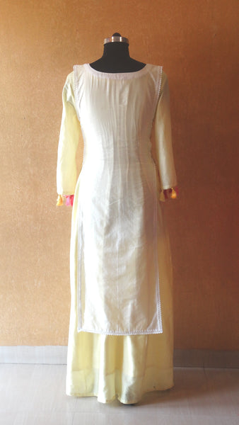 Dutch Girl Maxi - Hand Embroidered Chanderi Summer Dress