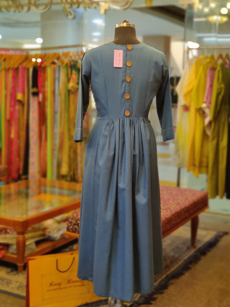 Turkish Blue Cinema Dress