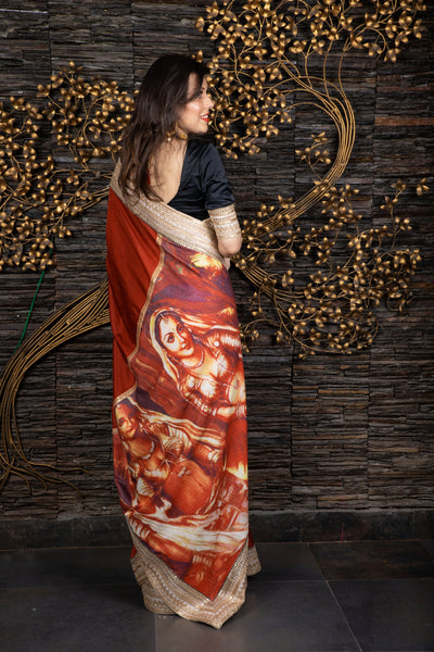 The Rajasthani Soiree - Deep Red Saree