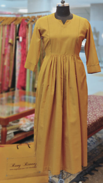 Ochre Yellow Cinema Dress