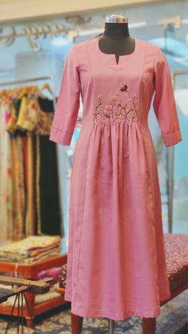 Salmon Pink Cinema Dress