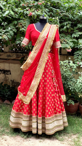 Regal Red Bridal Lehenga