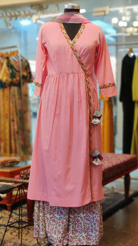 Pink Angrakha Suit