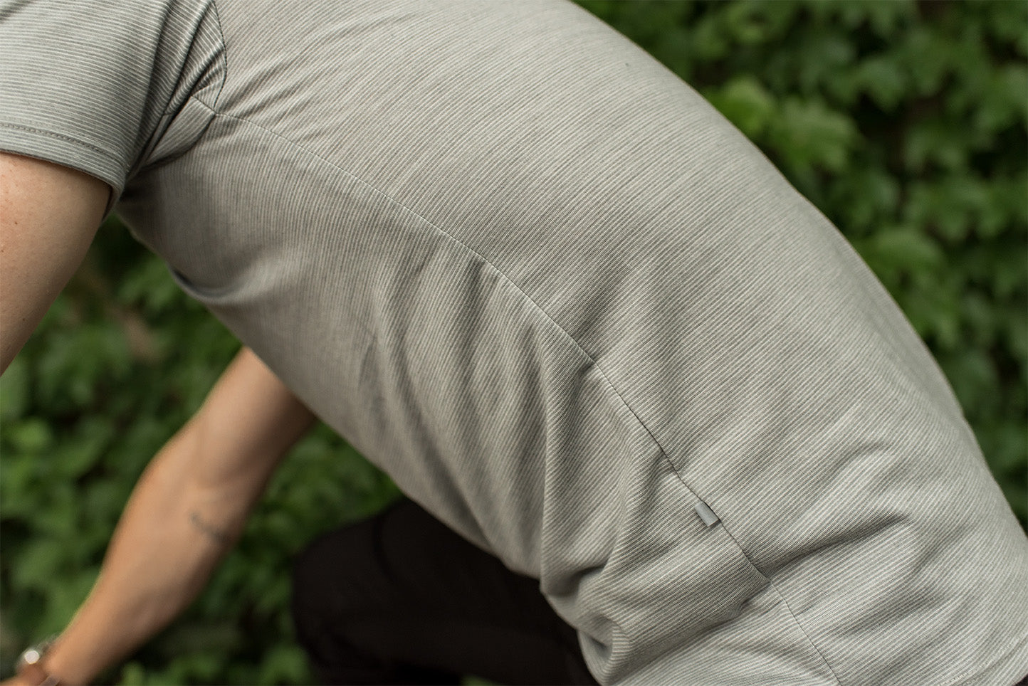 Men's Classic Base Tee — 65% Merino Blend — Grey