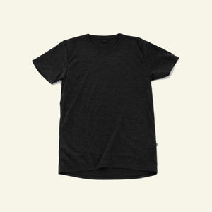 Women's Classic Base Tee — 100% Merino — Coal