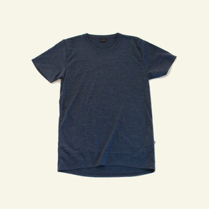 Men's Classic Base Tee  — 65% Merino Blend — Navy