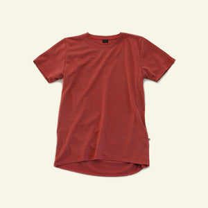 Women's Classic Base Tee — 65% Merino Blend — Rust