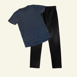 Men's Denim & Tee — Coal — Core Pack