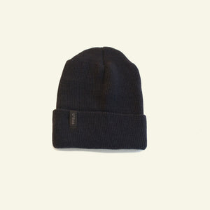 Winter Beanie — 100% Merino Wool — Coal
