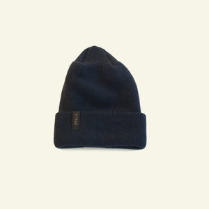 Winter Beanie — 100% Merino Wool — Dark Navy