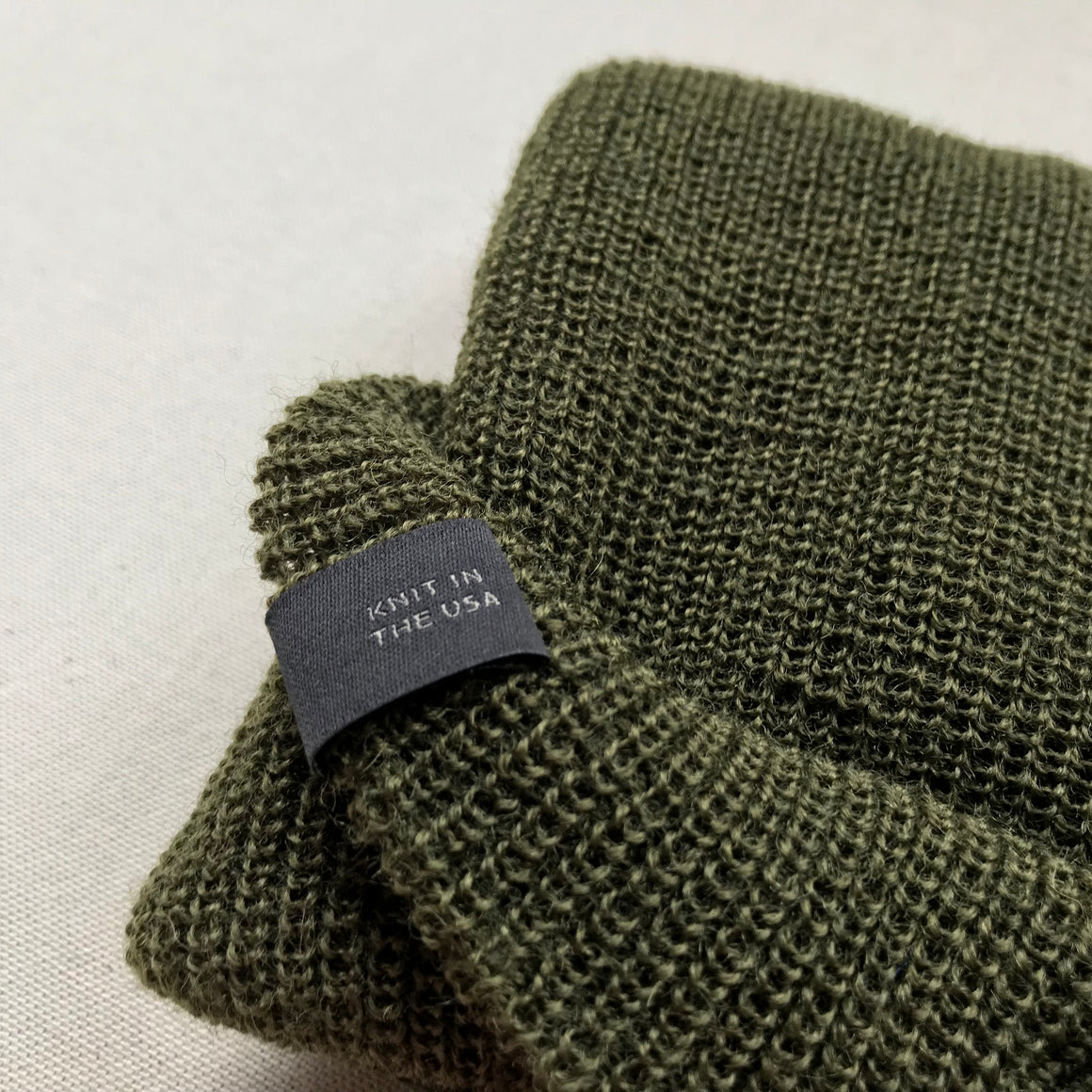 Winter Beanie  — 100% Merino Wool — Olive