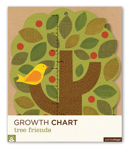 Petit Collage: Growth Chart in 'Tree Friends' (Eco-friendly)