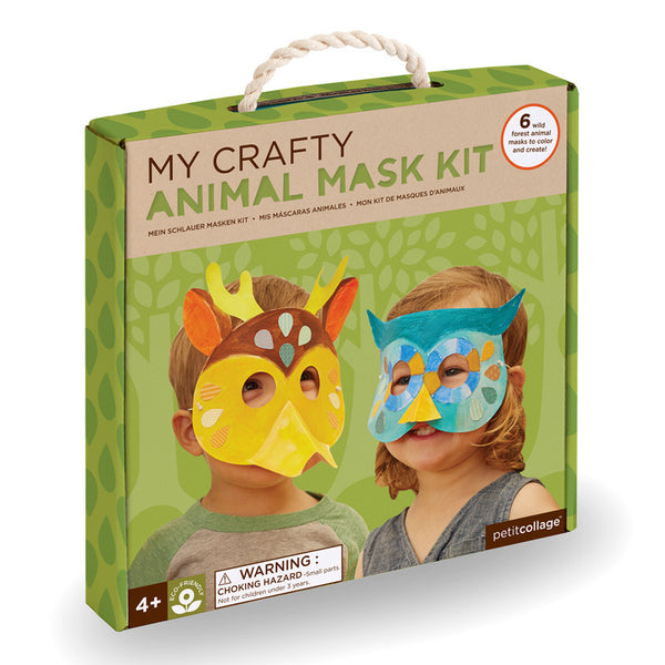 Petit Collage: My Crafty Animal Mask Kit (Eco-friendly)