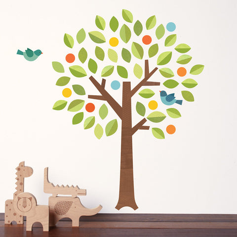 Petit Collage: Fabric Wall Decal in 'Polka Dot Tree' (Eco-friendly)