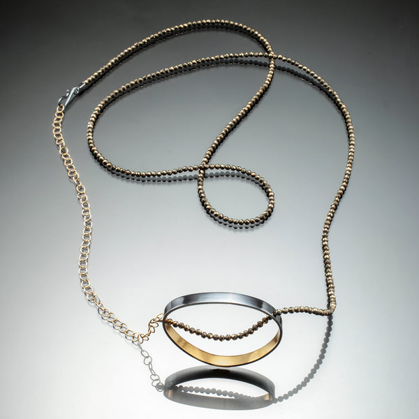 Gold inside oval necklace - Kinzig Design Studios