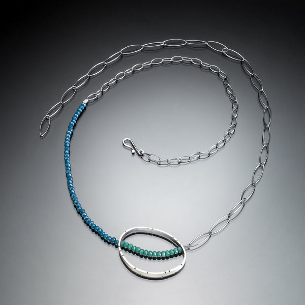 Oval Silver and Stone Necklace - Kinzig Design Studios