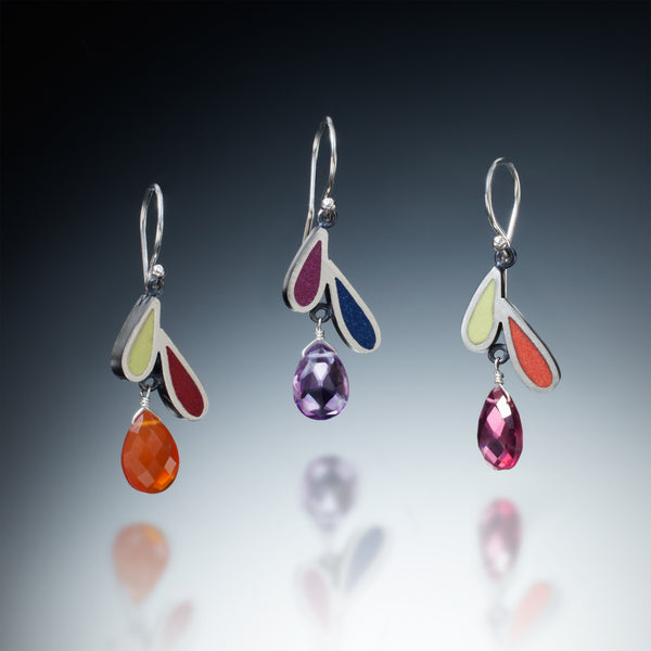 Two Petal Earrings - Kinzig Design Studios