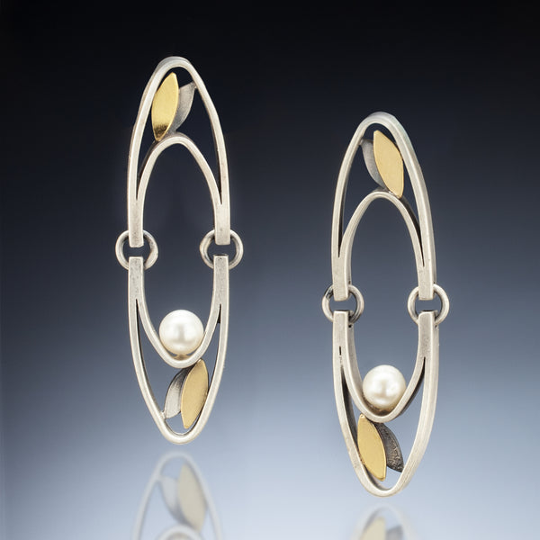 Mixed Metal Hinge Earrings - Kinzig Design Studios