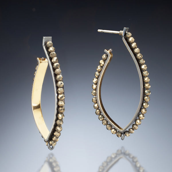 Gold Inside Hoop Earrings - Kinzig Design Studios