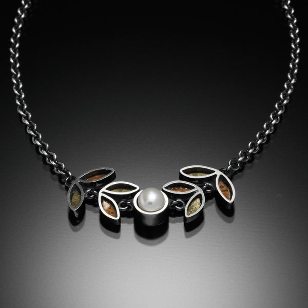 Four Leaf Necklace (brass & copper) - Kinzig Design Studios