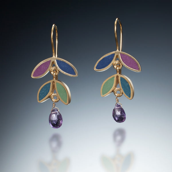 Four Leaf Earrings (gold) - Kinzig Design Studios