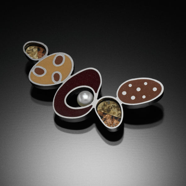 Five Oval Brooch - Kinzig Design Studios