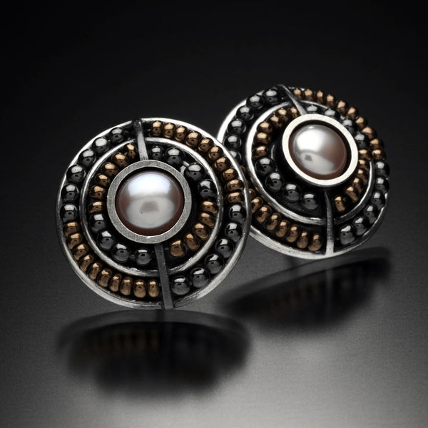 Beaded Circle Earrings - Kinzig Design Studios