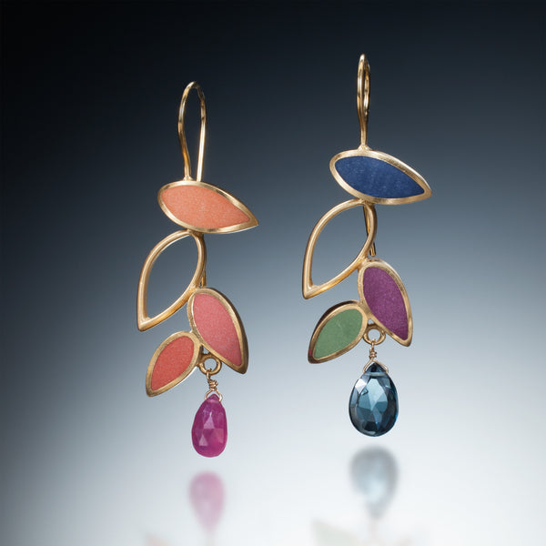 Falling Leaf Earrings (gold) - Kinzig Design Studios