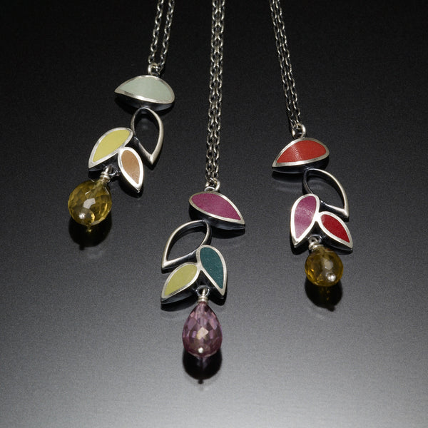 Falling Leaf Necklace - Kinzig Design Studios