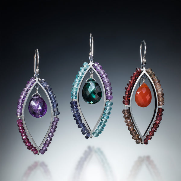 Gemstone Marquis Earrings - Kinzig Design Studios