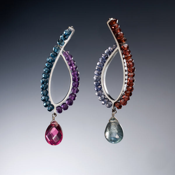 Gemstone Loop Earrings - Kinzig Design Studios
