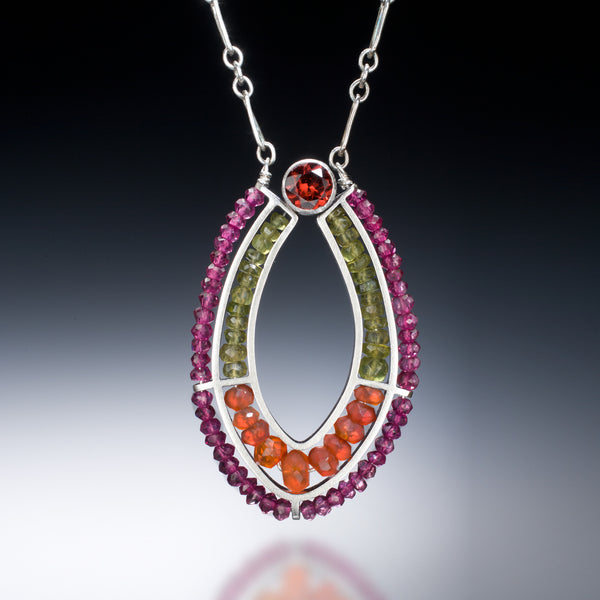 Gemstone Loop Necklace (purple) - Kinzig Design Studios