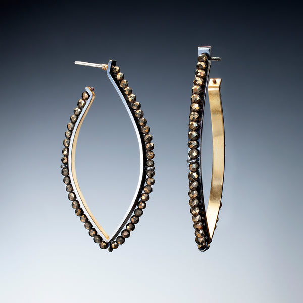 Gold Inside Hoop Earrings (large) - Kinzig Design Studios