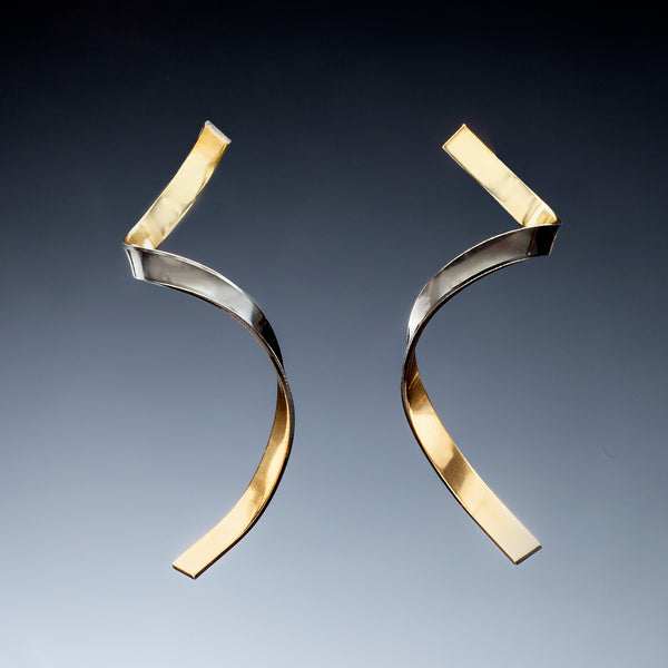 Gold Inside Twist Earrings - Kinzig Design Studios