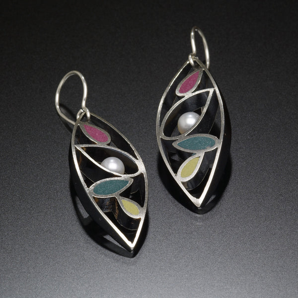 Marquis Earrings (green) - Kinzig Design Studios