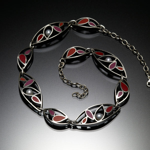Marquis Necklace (red) - Kinzig Design Studios